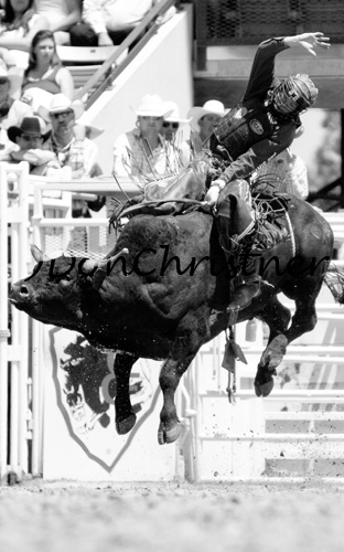 Bull rider high in the air!!