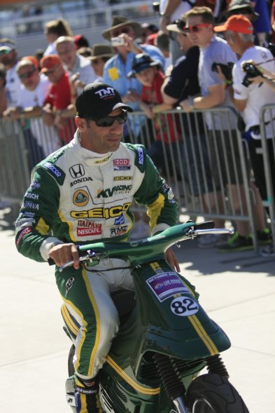 Pole sitter Tony Kanaan - KV Racing Technology